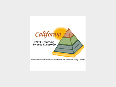 The California CSEFEL Teach Pyramid Framework logo